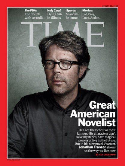 جاناتان فرنزن روی جلد مجله تایم
